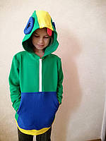 Детская толстовка ZaKo Леон Бравл Старс 122 размер