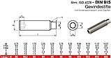 DIN 915 (ГОСТ 11075-93; ISO 4028) : нержавіючий настановний гвинт з циліндричним кінцем, фото 3