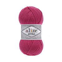 Пряжа Alize Extra (Ализе Екстра) 10% шерсть, фуксия 149
