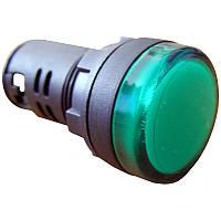 Светосигнальная арматура АСКО-УКРЕМ AD22-22DS зеленая 110V АC