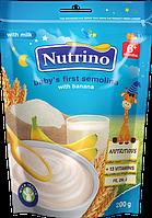 "Каша сухая молочная быстрорастворимая манная с бананом 200г ТМ ""NUTRINO"" с 6 месяцев."