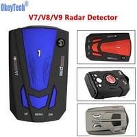 Детектор светодиодный Radar Detector V9 Голубой Антирадар V9 Радар V9 радар-детектор