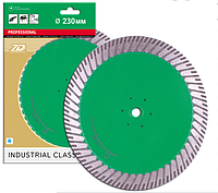 Отрезной алмазный круг  (гранит, песчаник) TURBO DUPLEX 230х3х10/25х22,23-M14F