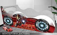 Кровать машина ЖЕЛЕЗНЫЙ ЧЕЛОВЕК Shock Cars от 1400х700, фото 1