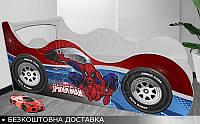 Кровать машина ЧЕЛОВЕК ПАУК Shock Cars от 1400х700, фото 1