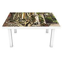 Наклейка на стол Zatarga «Королевский сад » 650х1200мм для домов, квартир, столов, кофейн, кафе