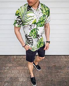 """Чоловіча сорочка """"Hawaii"""" - зелений (collab)"""