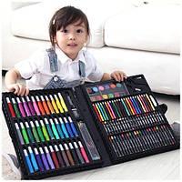 Набор для детского творчества в чемодане,набор канцелярских товаров,для рисования 150 предметов
