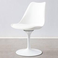 Стілець для дому або кафе. Білий і чорний. Модель RD-9084