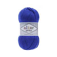 Пряжа Alize Extra (Ализе Екстра) 10% шерсть, ярко-синий 141