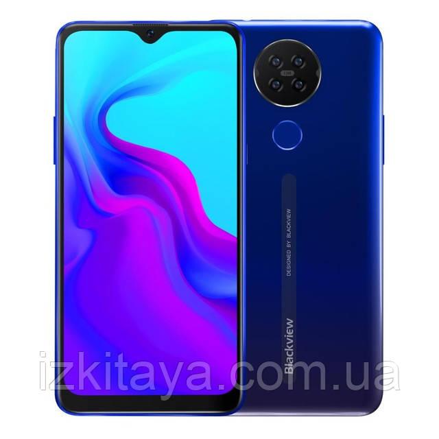 "Смартфон Cubot P40 blue огромный экран 6,2"" батарея 4200 mAh 4/128 Гб"