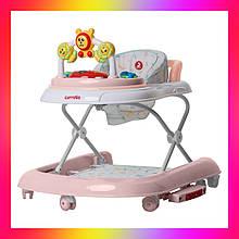 """Дитячі ходунки музичні - гойдалка """"Перші кроки"""" 3в1 Carrello Libero CRL-9602/2 Rose рожевий"""