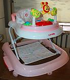 """Детские музыкальные ходунки - качалка  """"Первые шаги"""" 3в1 Carrello Libero CRL-9602/2 Rose розовый, фото 7"""