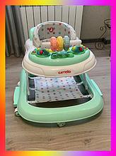 """Дитячі ходунки музичні - гойдалка """"Перші кроки"""" 3в1 Carrello Torino CRL-9603/3 Azure зелений"""