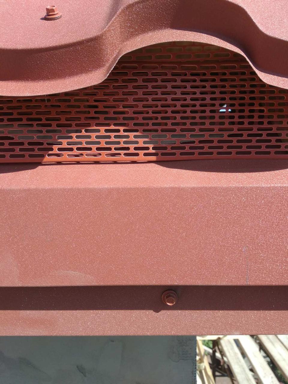 Лента свеса вентиляционная 100х5000мм. Цвет кирпичный 8004