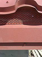 Стрічка звису вентиляційна 100х5000мм. Колір цегляний 8004, фото 1