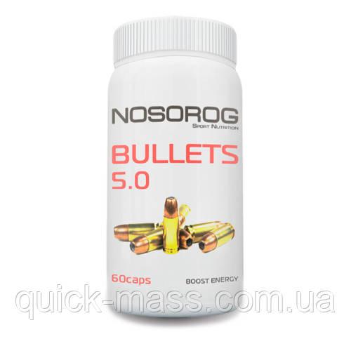 Предтренировочный комплекс Nosorog BULLETS 5.0 60капс