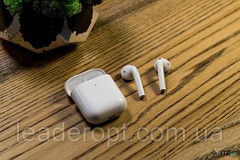 ОПТ Бездротові сенсорні навушники гарнітура AirPods 2, з чіпом DJILI (Репліка)