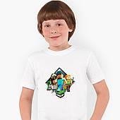 Футболка детская Майнкрафт (Minecraft) Белый (9224-1175)