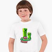 Футболка детская Майнкрафт (Minecraft) Белый (9224-1176)