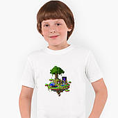 Футболка детская Майнкрафт (Minecraft) Белый (9224-1177)