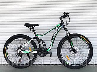 """Велосипед спортивный двухподвесной TopRider-910-1 26"""" зеленый"""