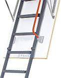 Металлическая трехсекционная чердачная лестница FAKRO LMP 144х86, фото 2
