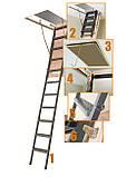 Металлическая трехсекционная чердачная лестница FAKRO LMP 144х86, фото 5