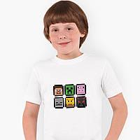 Футболка детская Майнкрафт (Minecraft) Белый (9224-1173), фото 1
