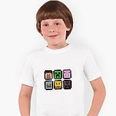 Футболка детская Майнкрафт (Minecraft) Белый (9224-1173)