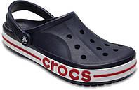 Кроксы мужские женские темно-синие летние легкие шлепки Crocs Bayaband Clog