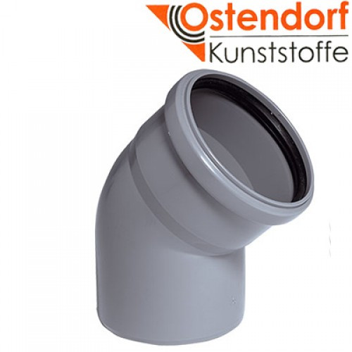 Колено канализационное Ostendorf HT 50 мм 30°