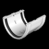 Соединитель желоба Технониколь, Белый ПВХ D125/82 мм