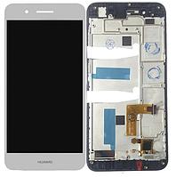 Дисплей Huawei Enjoy 5s/GR3 (TAG-L21/TAG-L01/TAG-L03) + сенсор белый, с передней панелью ( модуль, стекло)