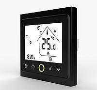 Терморегулятор для теплого пола сенсорный программируемый на Wi-Fi управлении Черный In-Therm PWT-002