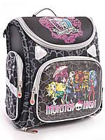 """Шкільний каркасний рюкзак з ортопедичною спинкою """"Monster high black"""""""