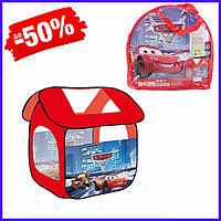 Детская палатка Машинки 8009 С игровая 112х102х114 см, игровой домик-палатка Тачки для мальчиков в сумке