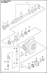 1 КОРОБКА ПЕРЕДАЧ | DM 400, 2020-02 бурильная машина Husqvarna | алмазное бурение |
