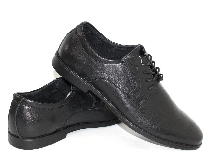 Мужские классические черные туфли из натуральной кожи Kangfu 43 р. - 28 см (1225439831)