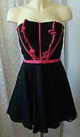 Платье женское нарядное хлопок мини бренд Karen Millen р.48 3710