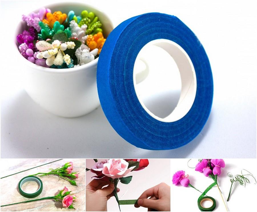 Флористическая лента ткань с ландышами купить