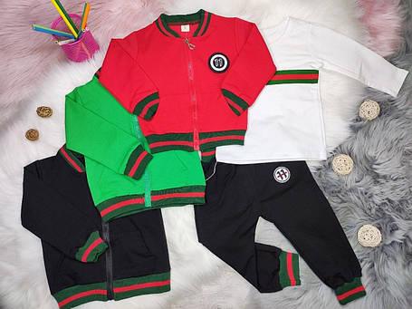 Стильный костюм тройка на мальчика весна-осень Gucci черный 1-4 года, фото 2