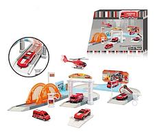 """Паркинг S+S toys """"Пожарная станция"""", с транспортом, FJ-629"""