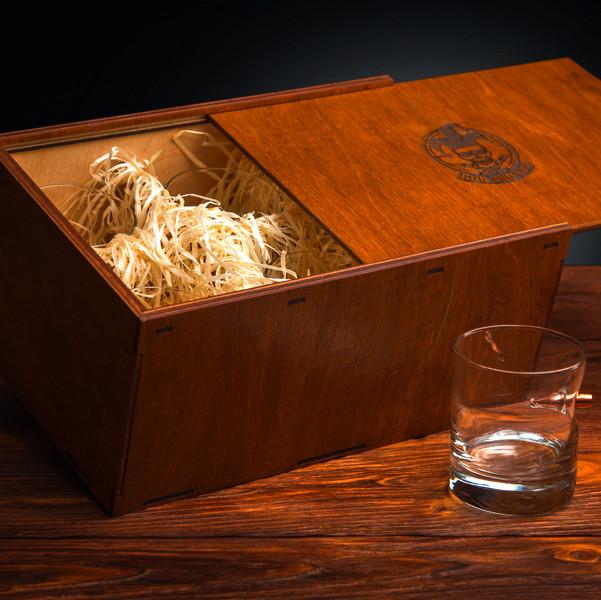 Набір склянок для віскі із застряглою кулею 6 шт.