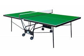 Теннисный стол для помещений GSI-sport Compact Strong Gk-5 blue /Gp-5 green
