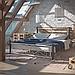 Кровать металлическая двуспальная Нарцис на деревянных ногах, фото 2