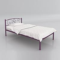 Кровать металлическая односпальная Лилия