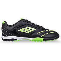 Сороконожки-шиповки взрослые мужские Обувь для футбола DIFENO TIKA Черно-зеленый (СПО 15-5) 39