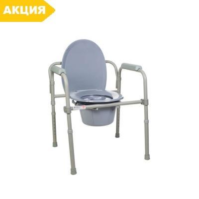 Стул-туалет складной стальной 12627 Dr.Life, стул туалетный, горшок для взрослых, больных