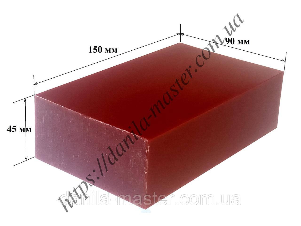Модельний віск блок бордовий (150*90*45 мм)
